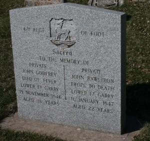 soldiers' gravestone