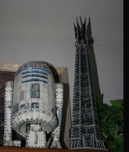 R2D2 & the tower from Lord of the Rings