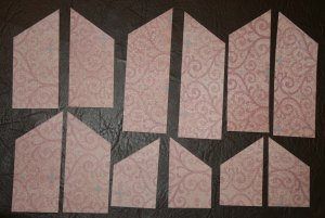 patterned paper diagonals cut