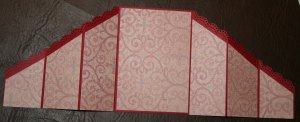 Inside with pattern strips attached