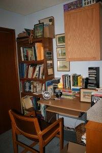 new desk & tall bookshelf