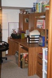 desk & hutch on right