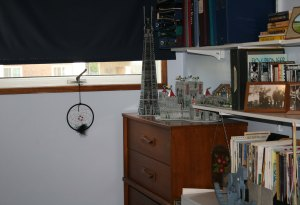dresser with 3D puzzles