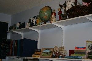 shelves above dresser