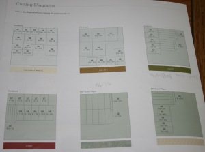Frosted cutting diagrams